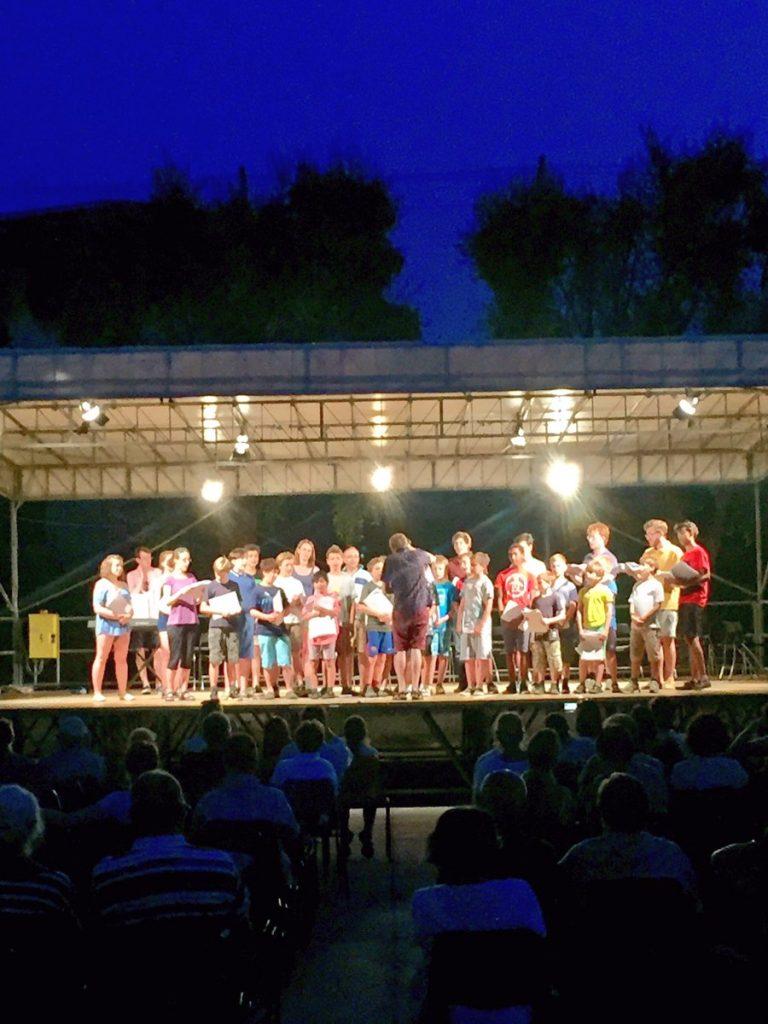 An outdoor concert in Bodighera